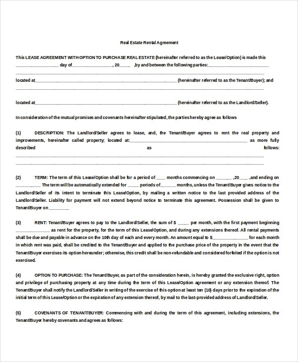 10 property rental agreement doc pdf free premium for Land rental contract template