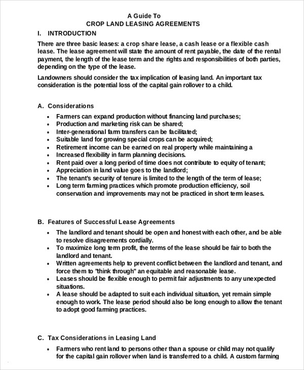 pdf format crop land lease agreement download for free1