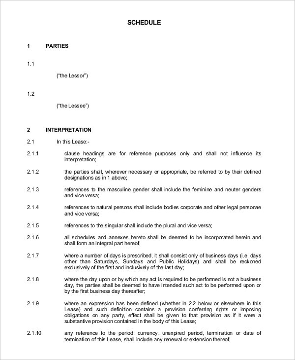 Agreement of Lease for Commercial Property PDF Download