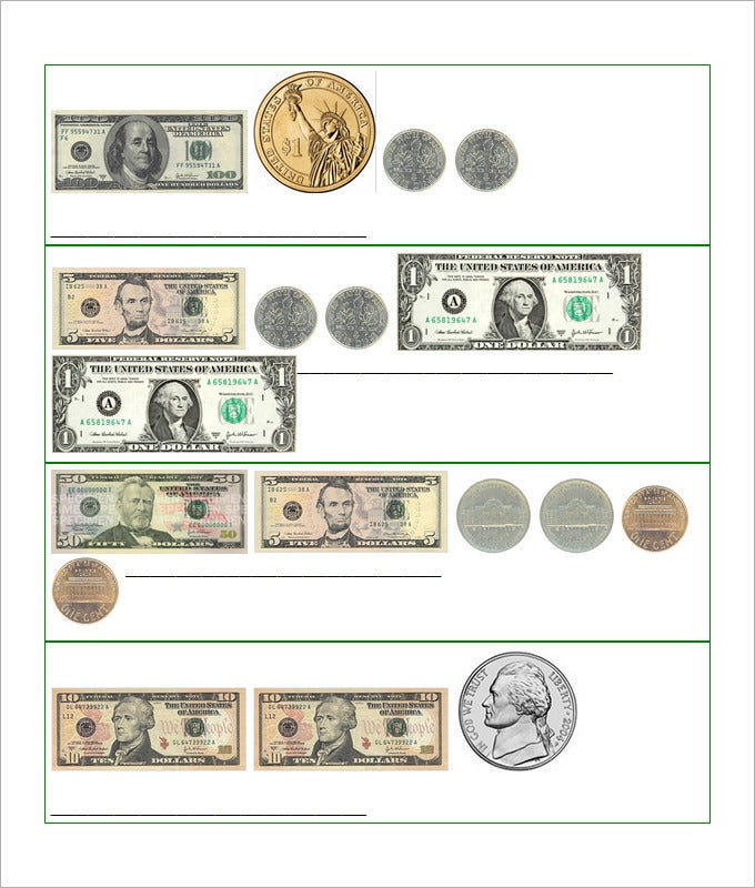 27 sample counting money worksheet templates free pdf