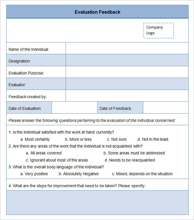 Evaluation Form Examples. Post Conference Evaluation Form 7+