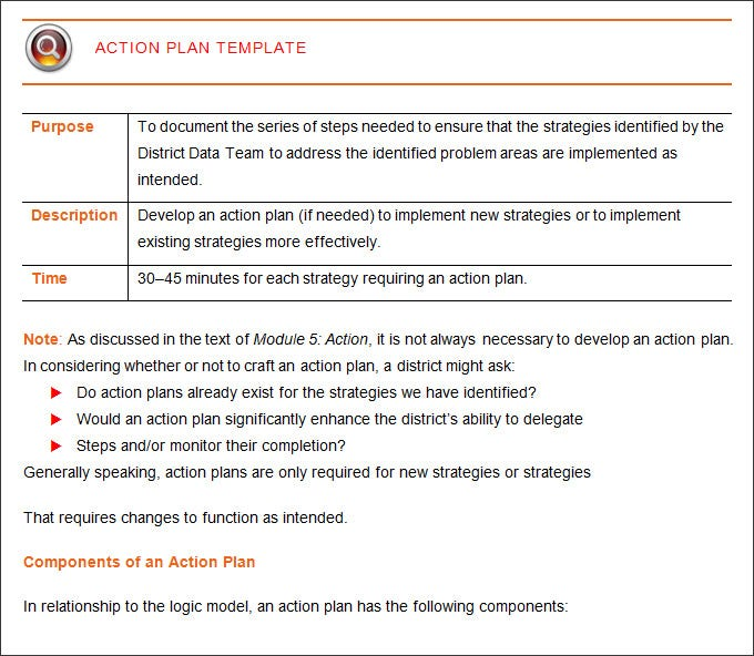action plan template word .