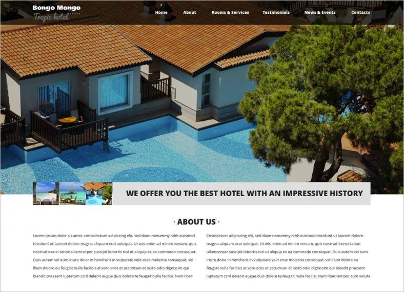Responsive Drupal Template for Hotel