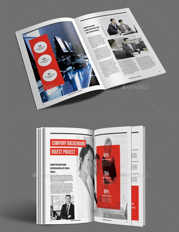 Fresh Digital Brochure Templates Free PSD Vector EPS PNG - A5 brochure template