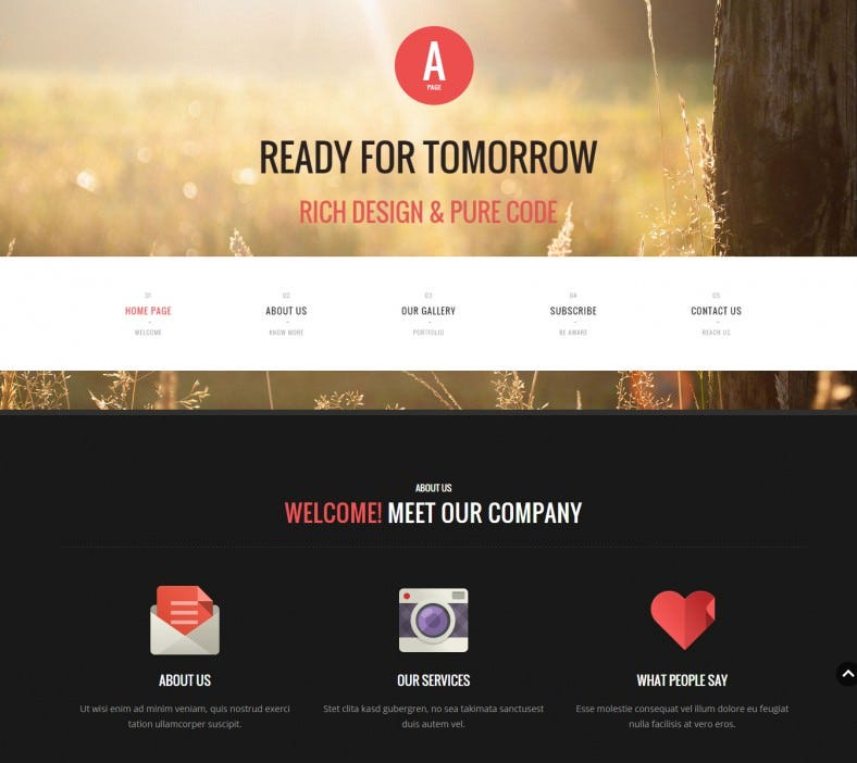 apage flat onepage multipage drupal theme 788x702