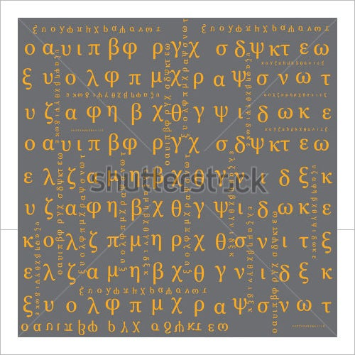 abstract greek alphabet letters