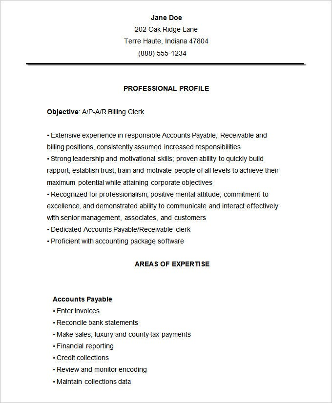 accountant resume cover letter - Cover Letter For Accounting Clerk