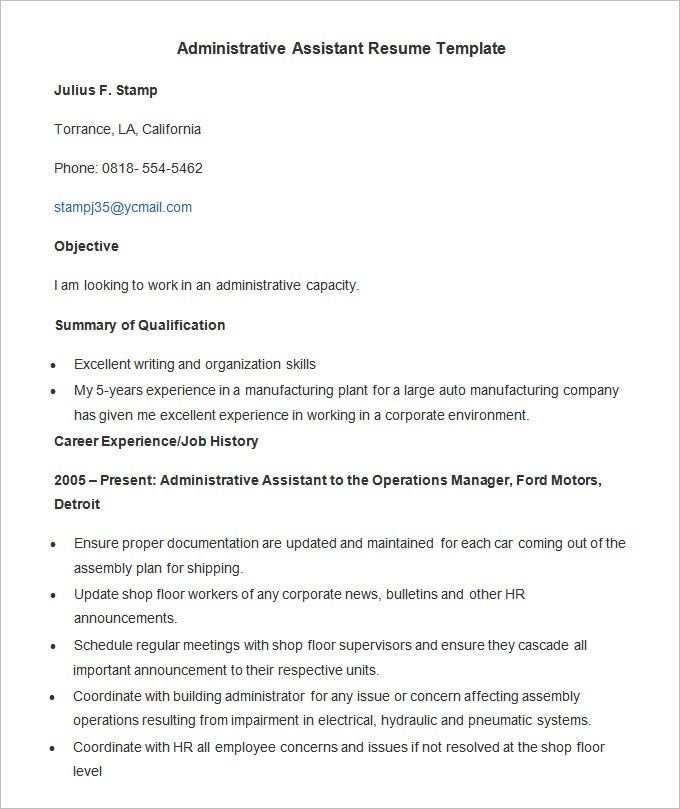 executive assistant resume sle 2015 28 images free