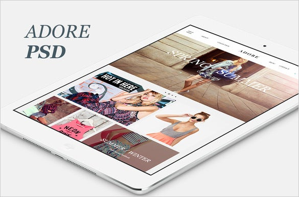 adore psd e commerce template