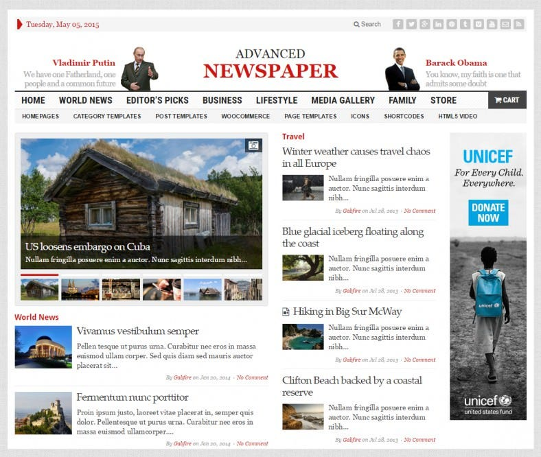 Wordpress Newspaper Template Free Download Bire1andwap