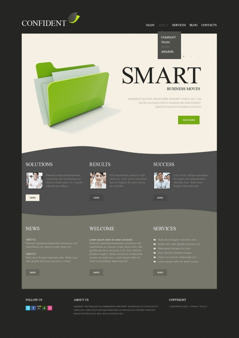 Advertising Agency Drupal Template