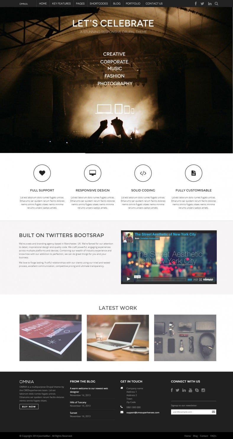 Advertising Agency Responsive Drupal Templates