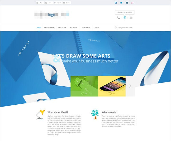 agency website template – psd
