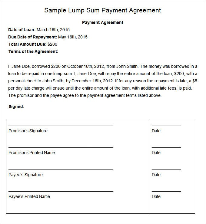 Payment Plan Agreement Templates   22 Free Word PDF Documents baEGsVzT
