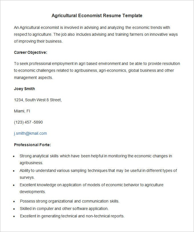 Career Resume Template | Resume Format Download Pdf