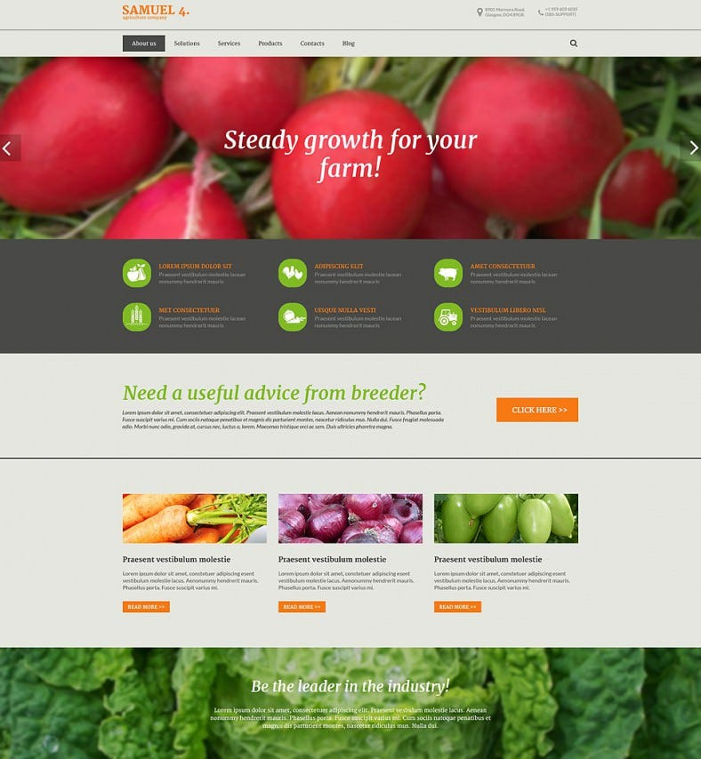 agriculture company drupal template 788x854