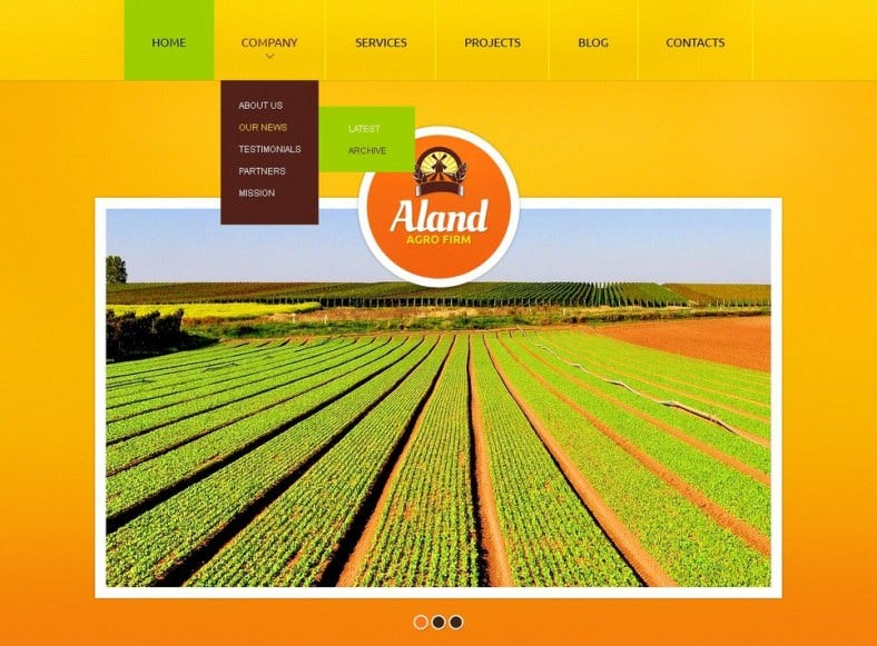 agriculture drupal template 788x581