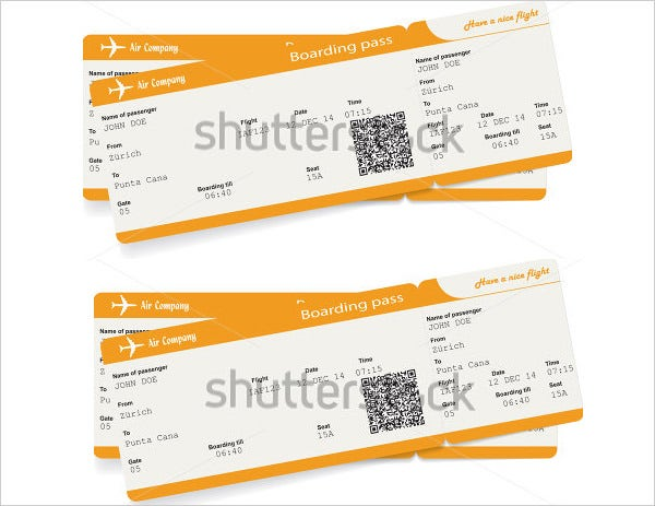 airline boarding pass ticket invitation template