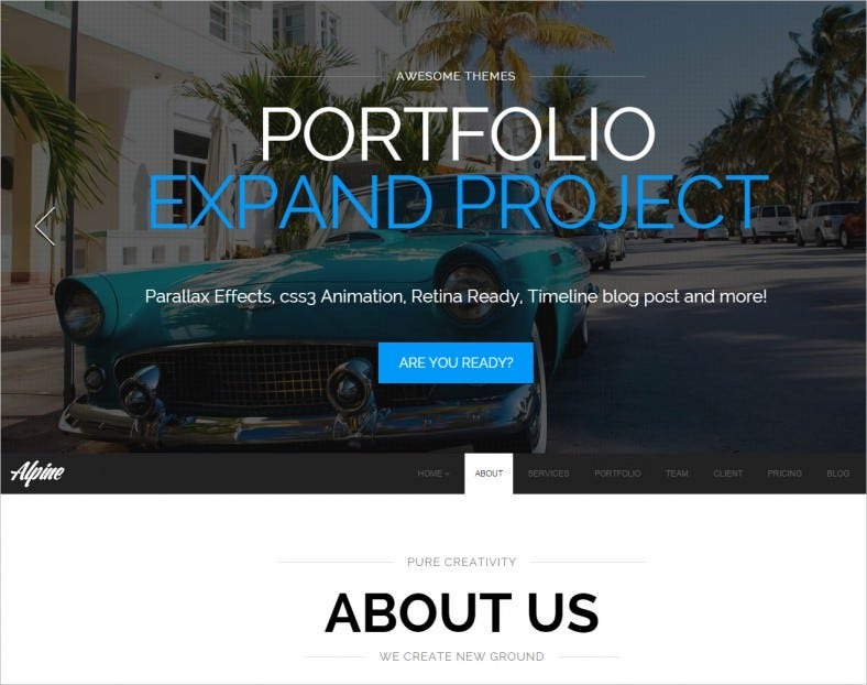 alpine responsive one page parallax drupal theme1 788x622