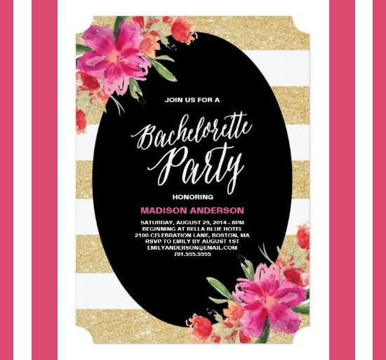 Amazing Bachelorette Invitation Template  Free Invitation Design Templates