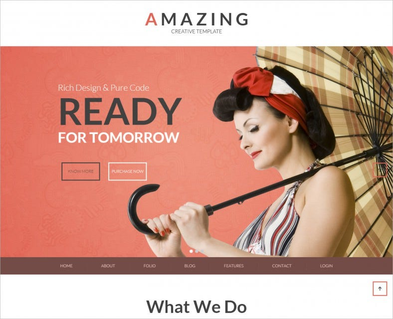 amazing one multipage parallax drupal theme 788x640