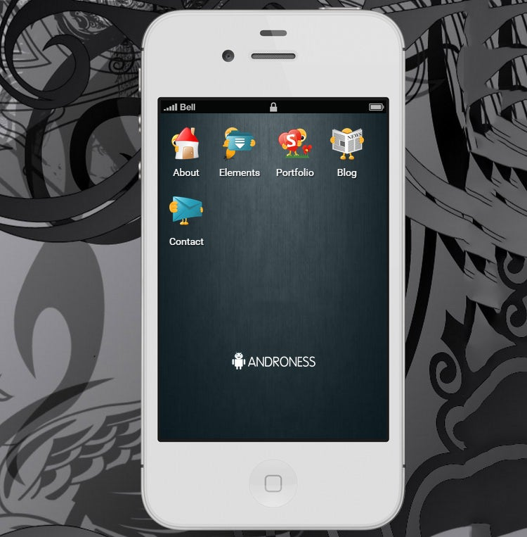 androness retina ready mobile template
