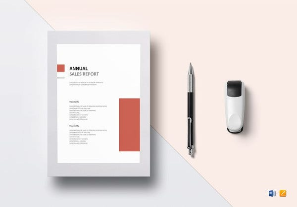 annual sales report template