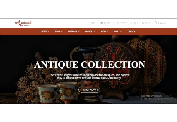 antique store magento theme