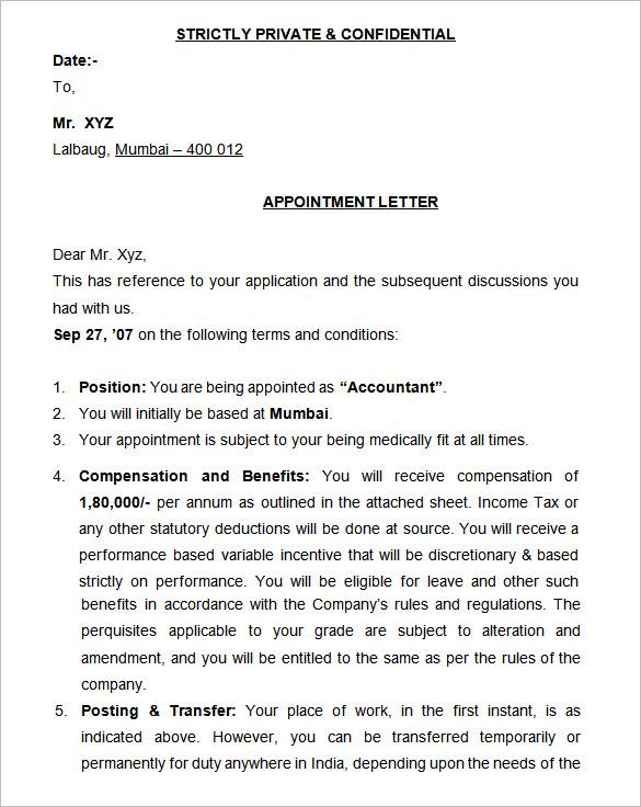 15+ Appointment Letters Templates | HR Templates | Free & Premium ...