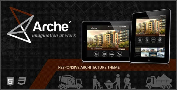 Arche PSD Template For Architects