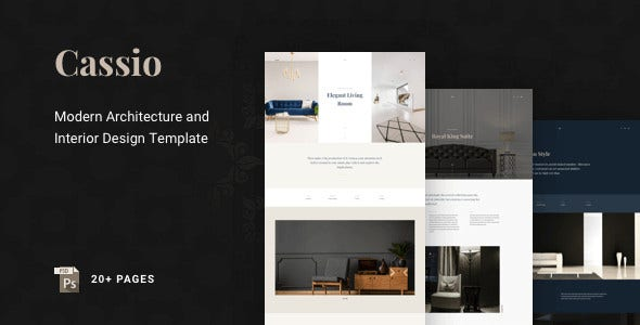 architect creative portfolio psd template