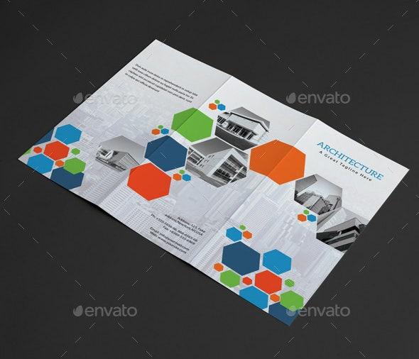 architect trifold psd template