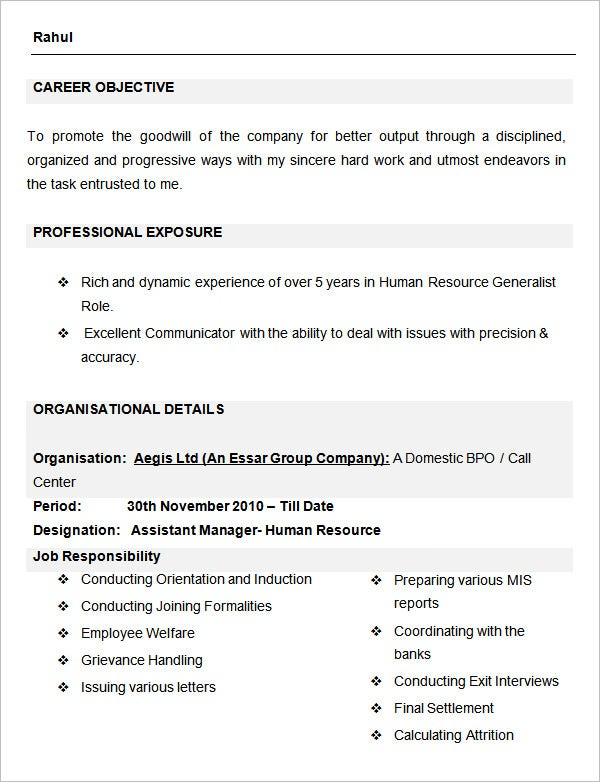 human resource assistant resume human resource assistant resume