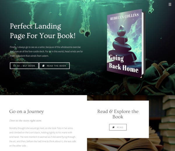 author minimal blog wp theme