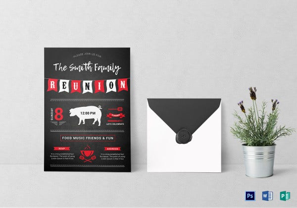 bbq reunion invitation template