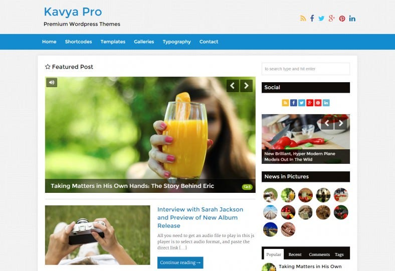 blog and magazine theme kavya pro 788x541