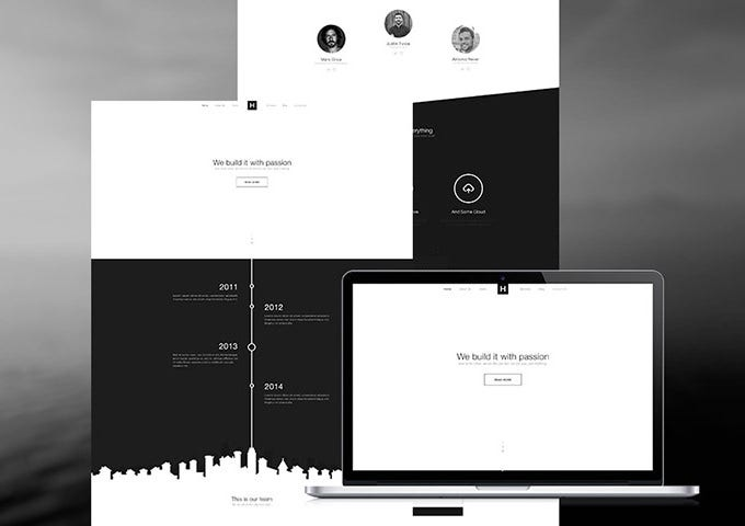 bw website template – psd