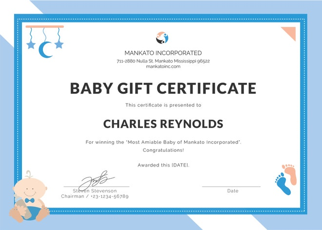 Baby Dedication Certificate Template - 21+ Free Word, PDF ...
