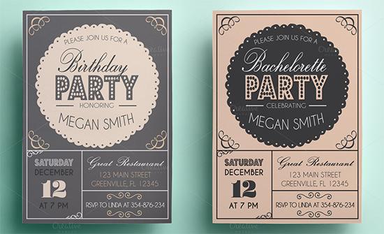 bacheloretter invitation templates
