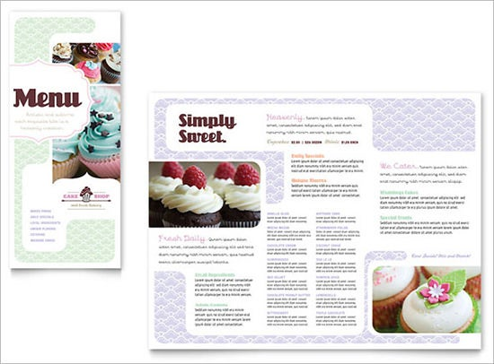 Bakery Menu Templates Free Word PSD PDF EPS InDesign - Bakery brochure template free