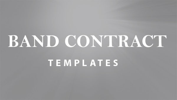 band agreement contracts templates .