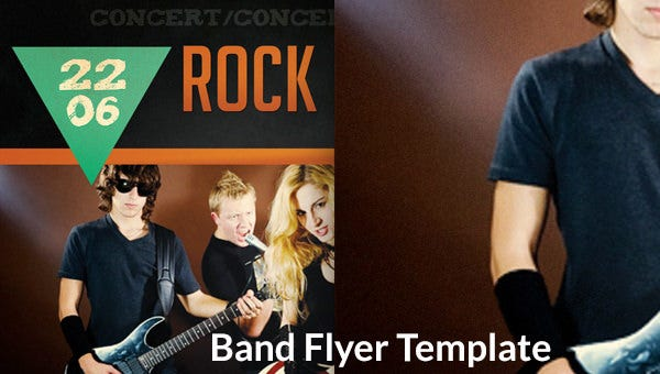band flyers templates