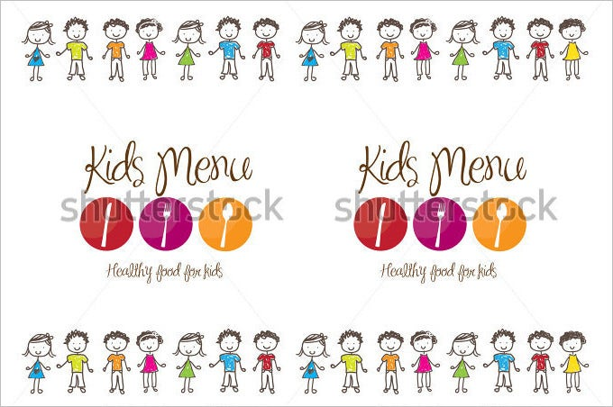 banner of kids menu