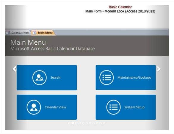 ms access templates 2013