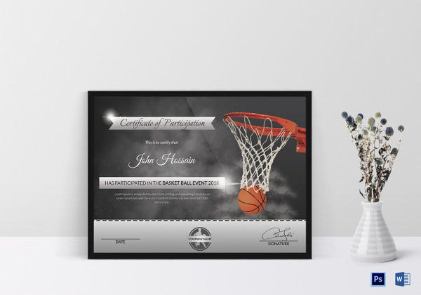basketball-participation-certificate