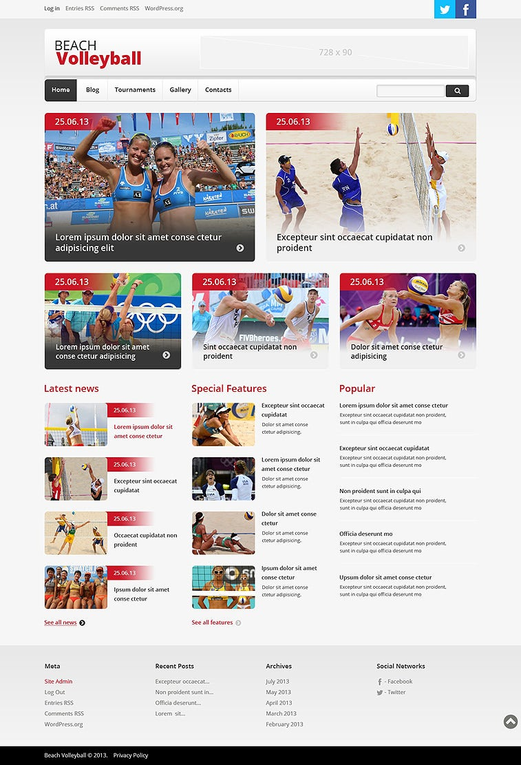 beach volleyball responsive wordpress theme 75