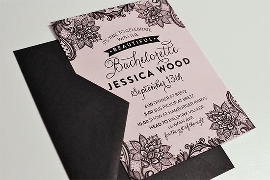 beautiful bachelorette invitation template