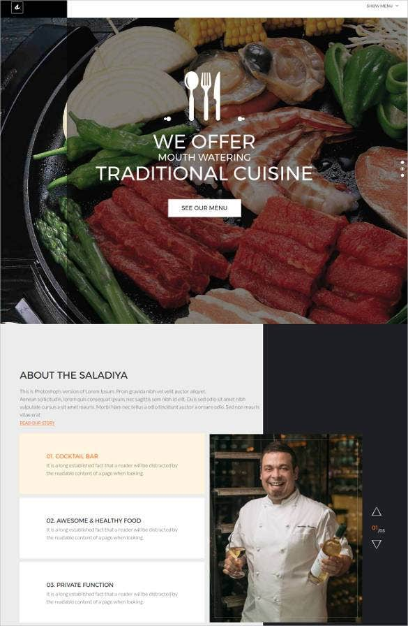 beautiful restaurant html5 website template1
