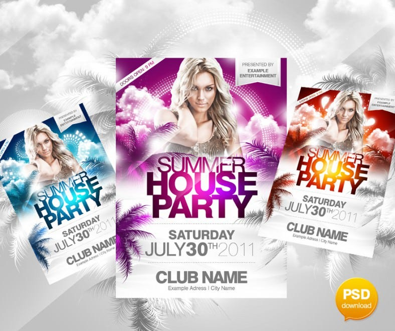 Beautiful Summer House Flyer PSD