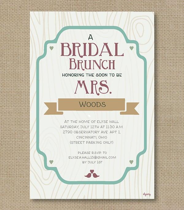 27 Wedding Shower Invitation Templates PSD Invitations Free